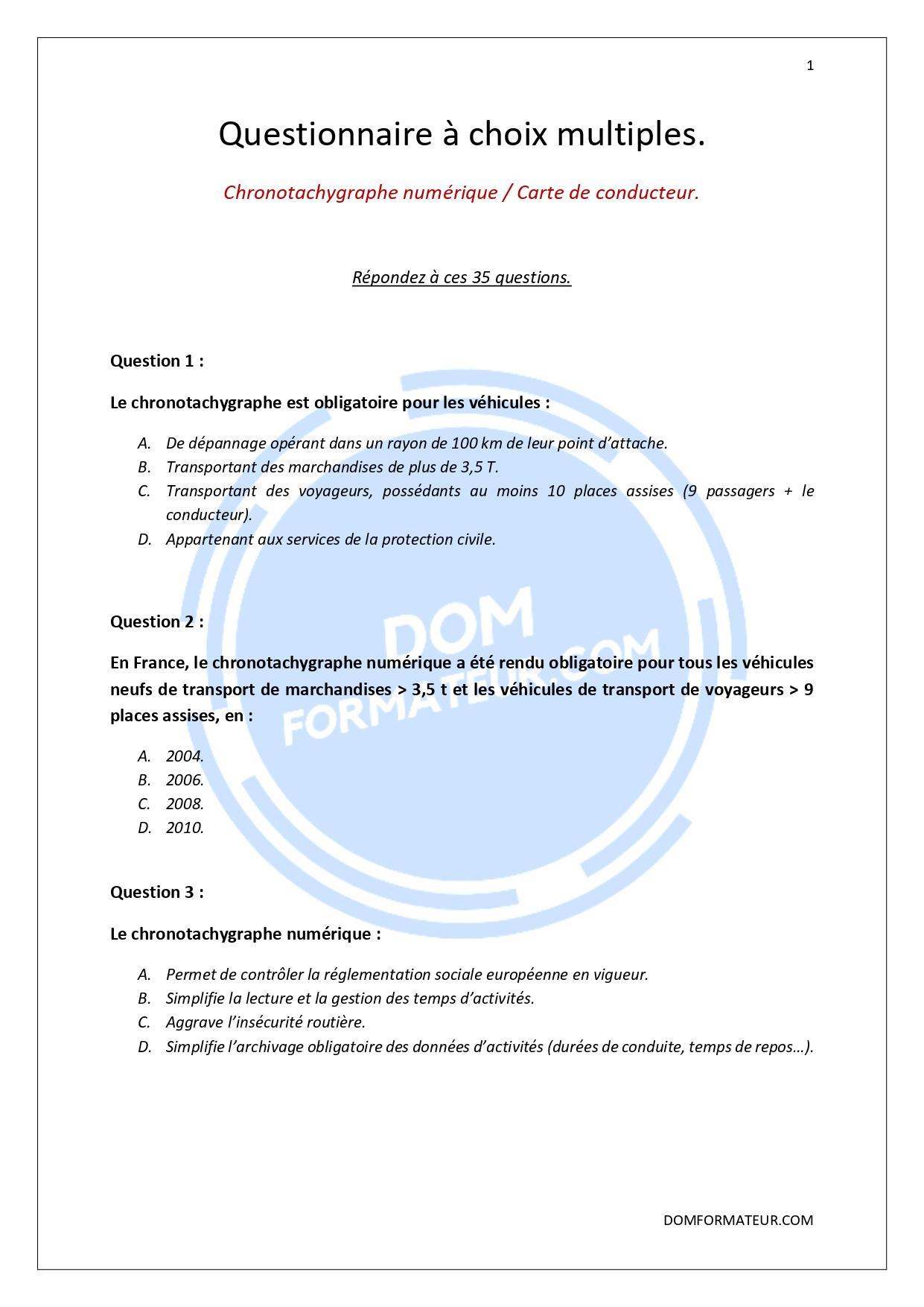 Chronotachygraphe numerique et carte de conducteur page 0001