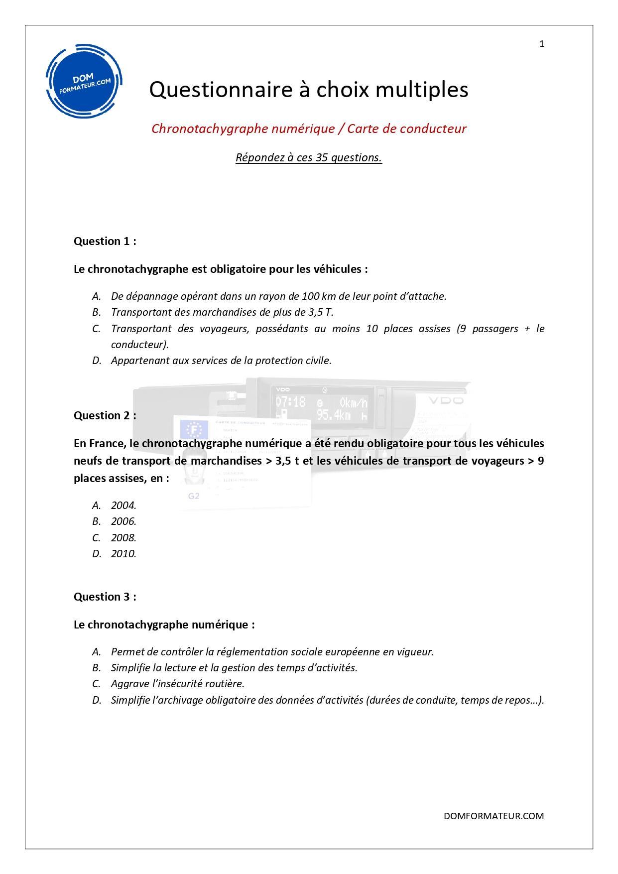Chronotachygraphe numerique et carte de conducteur page 2