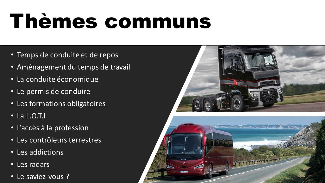 Themes communs